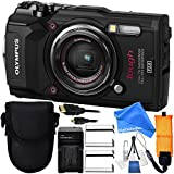 Olympus Tough TG-5 Digital Camera (Black) Includes x2 Extended Life Li-92B Replacement Batteries + AC/DC Rapid Home & Travel Charger + Point & Shoot Case + Floating Wrist Strap - DigitalAndMore BUNDLE