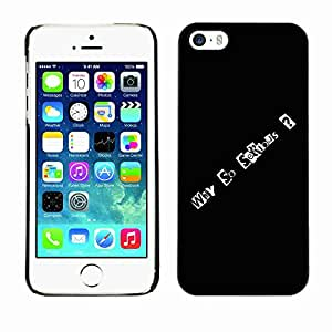 Planetar® ( Why So Serious ) Fundas Cover Cubre Hard Case Cover Apple iPhone 5 / 5S
