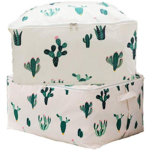 HeartyHome Foldable Large 65L Clothes Storage Organizer Bins