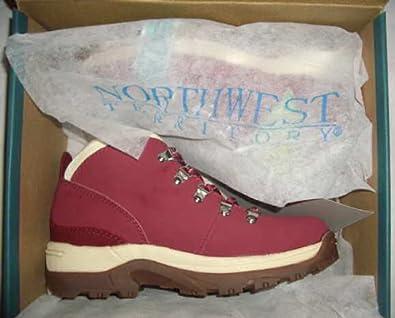 Northwest Territory Womens Trek Red Leather Walking Hiking Boots 6 UK