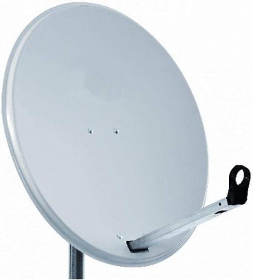 Antena parabólica SAB de 80 cm para sky, freesat, Polsat, Hotbird, Eurosat y Astra 1 y 2 que viene con lavabo