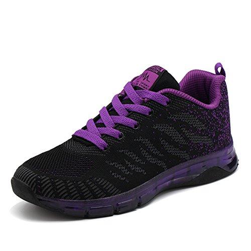 Donna Da Sneakers Outdoor Bambina Rosso Tennis Rosa Running Sportive Viola Casual Basse 40 Scarpe 35 Nero Fexkean Ginnastica Bxnwv14Wq