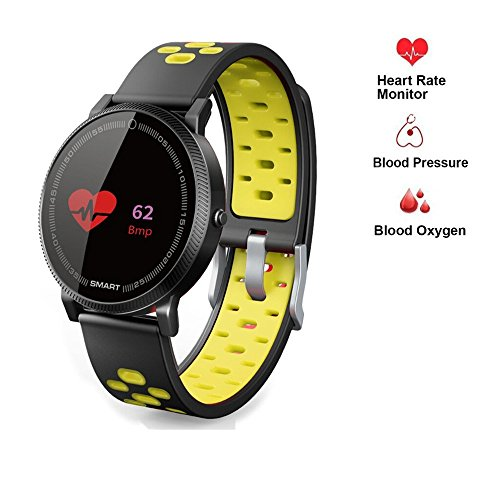 Fitness Tracker Sport,Businda Smart Bracelet with Heart Rate Blood Oxygen Pressure Waterproof Activity Tracker for Samsung iPhone Android by Businda