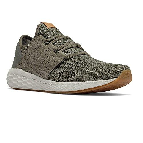 New Balance Mens Fresh Foam Cruz v2 Knit Military/Foliage Green/Rosin Running Shoe - 11 D