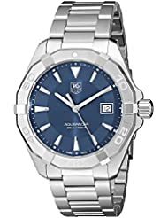 Tag Heuer Mens  300 Aquaracer Stainless Steel Bracelet Watch with Blue Dial