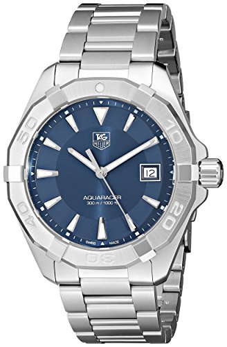 Tag Heuer Men's  '300 Aquaracer' Stainless Steel Bracelet Watch with Blue Dial