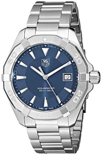 Tag Heuer Men's  '300 Aquaracer' Stainless Steel Bracelet Watch with Blue - Bracelet Heuer Date Tag