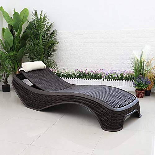 Centurion High-End PU Rattan Adjustable Sun Bed Lounger