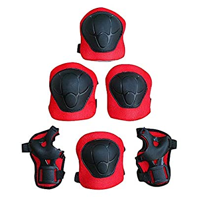 Beher Kids Protective Gear, Knee Pads for Kids Knee and Elbow Pads with Wrist Guards 3 in 1 for Skating Cycling Bike Rollerblading Scooter 6 Pack : Sports & Outdoors