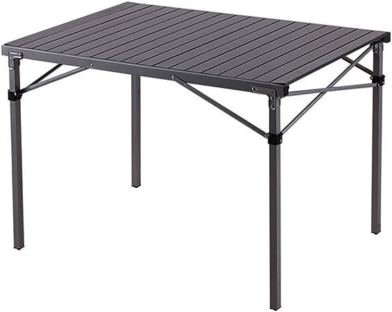NLHPB Muebles de Exterior Simple portátil y Mesa Plegable Moderna de Escritorio Soporte de Hierro Tabla portátil Ultra portátil Mesa de jardín Luz de aleación de Aluminio Plegable Mesa Plegable: Amazon.es: Hogar