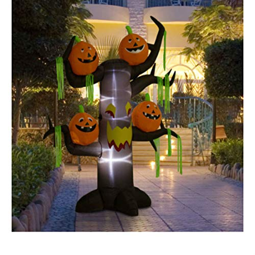 8ft Halloween Airblown Inflatable Haunted Pumpkins Tree Yard