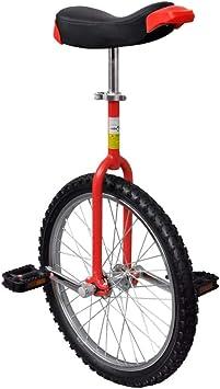 vidaXL Monociclo Rojo Ajustable Bicicleta de Una Rueda ...