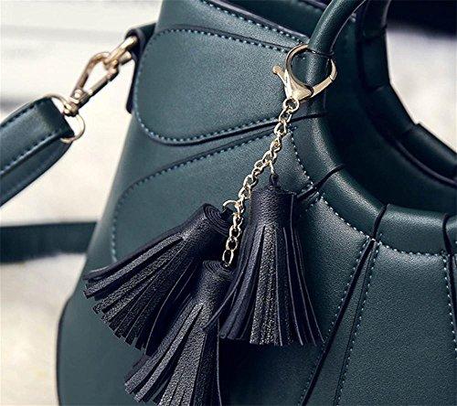 Pu 22 Tracolla 11cm Black Fashion Green A Tote Signora Borsa Yanx Delle Nappa 30 Signore Petali zE7wZqH
