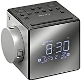 Sony Projector Dual Alarm Clock with Extendable Snooze, 5 Different Nature Sounds, AM/FM Radio, Built-in Calendar, Large LED Display, USB port & Battery Backup