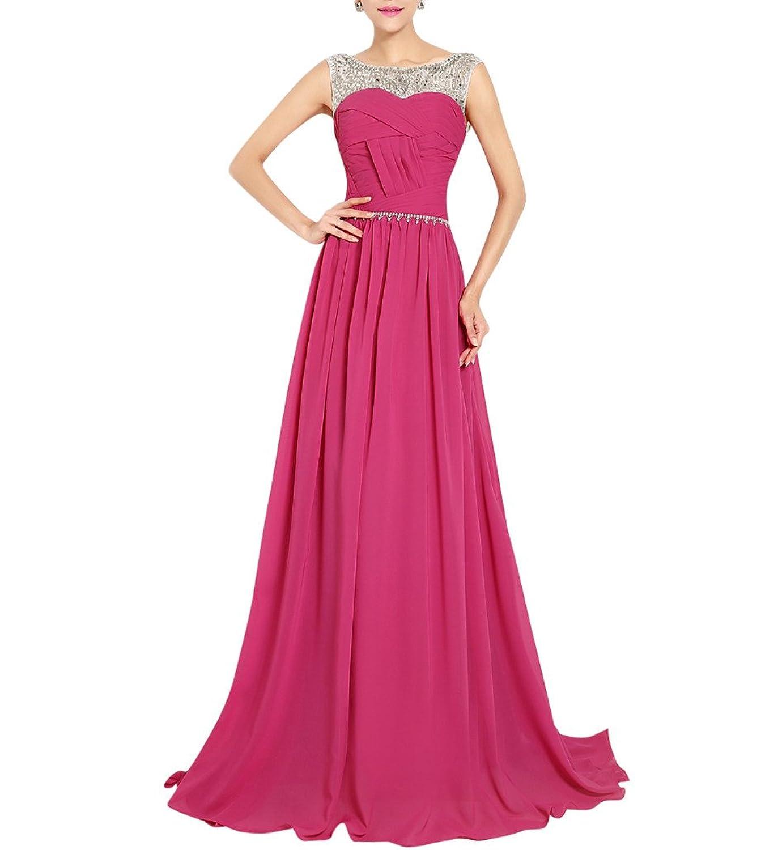 MissFox Damen Abendkleid in Maxi-Länge mit Pailletten besetzt