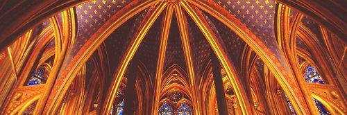 Walls 360 Peel & Stick Wall Murals: Interior Sainte Chapelle Paris (84 in x 28 in)