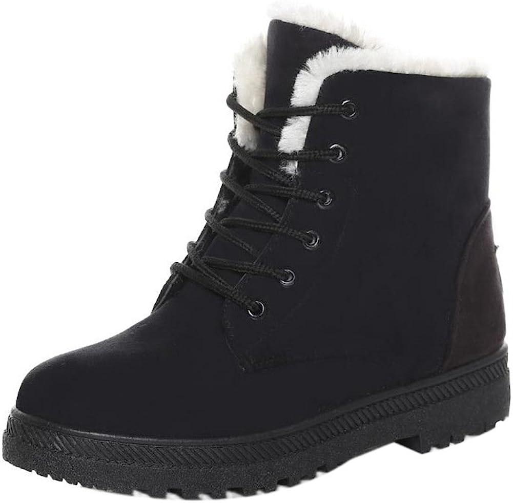 Amazon.com | SHIBEVER Winter Boots for