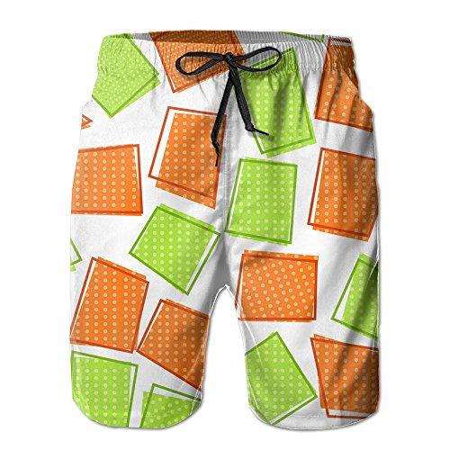 Green Orange Geometric Refreshing 2017 New Style Mans Beach Pants