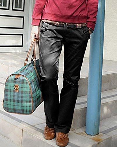 Pantalón Regular Casual Chino Hombre Pantalones Negro Largo Rectos Fit Oficina 7Bq8ZB