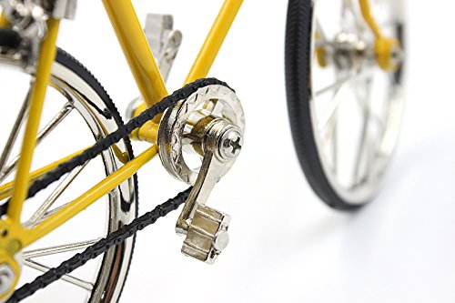 T.Y.S Racing Bike Model Alloy Simulated Road Bicycle Model Decoration Gift, Christmas Brithday Gifts for Dad, Boy and Cyclist, Yellow by T.Y.S (Image #6)