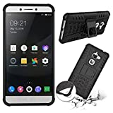 Noise PU and PC Dual Layer Protection with Inbuilt Kickstand Hybrid Shockproof Protective Case Cover for Letv Leeco Le2 (Black)