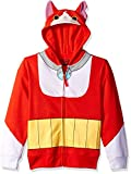 Yo Kai Watch Boys' Big Jibanyan Costume Zip Hoodie, Red, Medium/10/12
