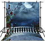 FHZON 5x7ft European Garden of Eden Photography Backdrop for Wedding Roman Column Dream Rose Themed Party YouTube Backdrops Photo Booth Props FH1385