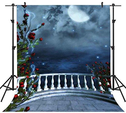 FHZON 5x7ft European Garden of Eden Photography Backdrop for Wedding Roman Column Dream Rose Themed Party YouTube Backdrops Photo Booth Props FH1385]()