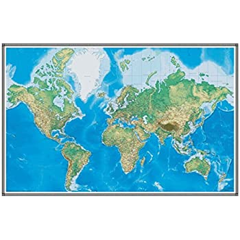 Amazon 76x120 world geophysical wall map wallpaper mural 76x120 world geophysical wall map wallpaper mural gumiabroncs Gallery