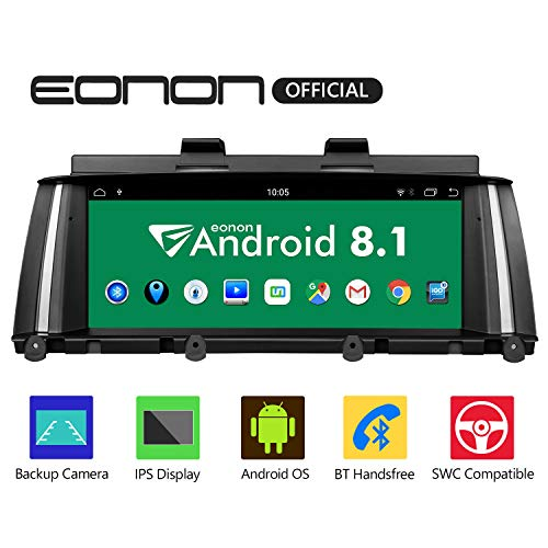 Eonon Android 8.1 Car Stereo, Car Radio with 8.8 Inch IPS Display Screen Support Android Auto, Apple Carplay, Applicable to BMW X3 F25/X4 F26(2014-2016) NBT Compatible with iDrive System - GA9205NB ()