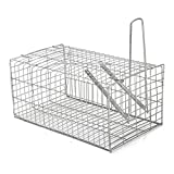 Generic Rat Trap Cage Animal Pest Rodent Mice Mouse Control Live Bait Catch Silver One Piece