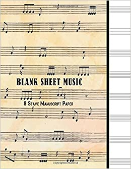 blank sheet music 10 stave manuscript paper 100 pages large 85 x 11 staff paper notebook journal volume 1