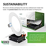 Sunco Lighting 12 Pack 6 Inch Slim LED Downlight