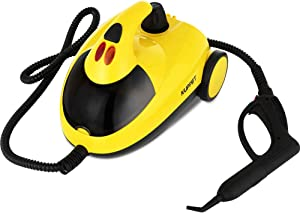 KUPPET Steam Cleaner with Various Accessories, 1.5L Water Tank 1500W, Multi-Purpose, Pressurized Steam Cleaning for Most Floors, Appliances, Carpe, Windows, Autos, and More, Yellow