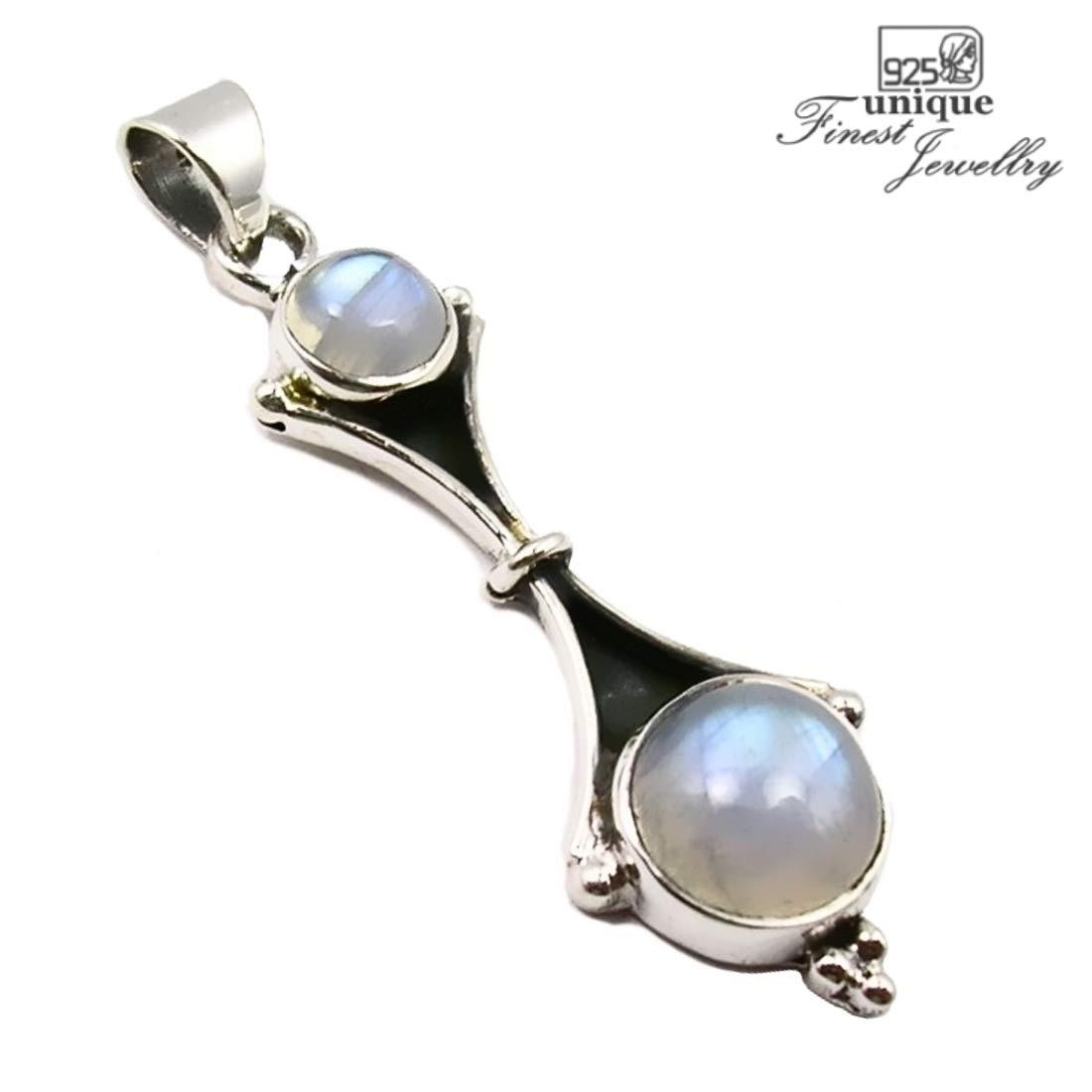 Unique pendentif pour femme pierre de lune 3.2 ct Argent 925//1000 qualit/é par bijoutier