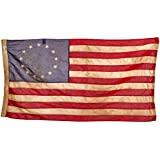 Valley Forge Flag Heritage Series 3 x  5 Foot Antiqued Cotton Colonial 13-Star US American Flag