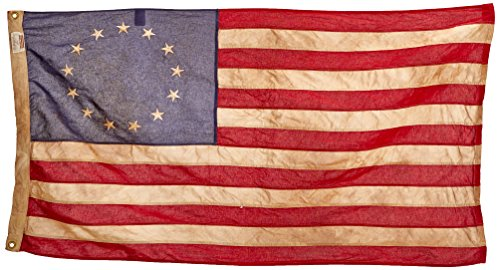 Star American Flag (Valley Forge Flag Heritage Series 3 x  5 Foot Antiqued Cotton Colonial 13-Star US American)