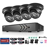 ANNKE 4CH 960P CCTV Camera System, 108ON HD TVI Security DVR with 4x 960P 1.3MP Indoor/Outdoor Camera, Super Night Vision, IP66 Weatherproof, No HDD