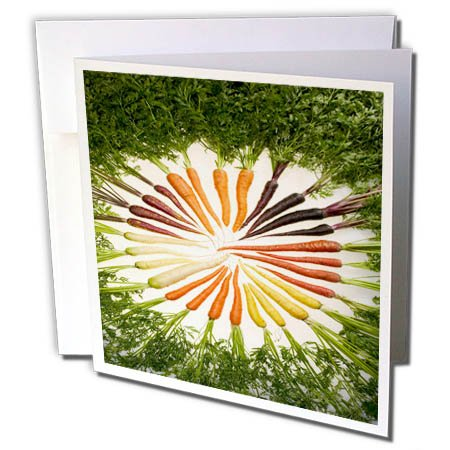 3dRose TDSwhite – Farm and Food - Food Carrots Various Colors - 12 Greeting Cards with Envelopes (gc_285123_2) by 3dRose