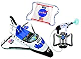 Aeromax Jr. Inflatable Space Shuttle, Astronaut Space Pack Super Water Blaster and Astronaut Drawstring Backpack (3 Piece Bundle) offers