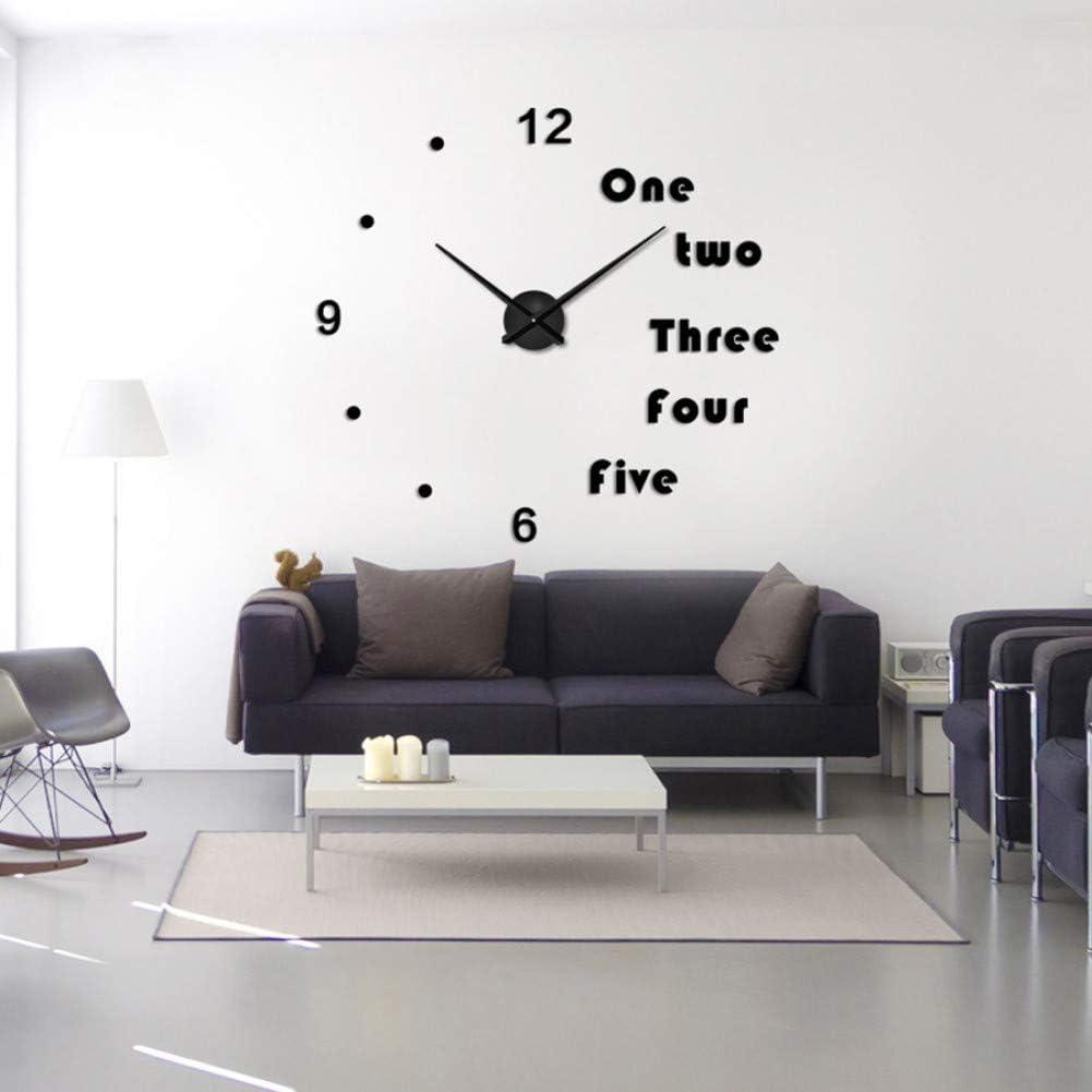 Mlorei Diy Wall Clock Modern Design Large Clocks For Living Room Decorativean 3d Stickers Big Wall Watch Home Decor 47inch Black Price In Uae Amazon Uae Kanbkam