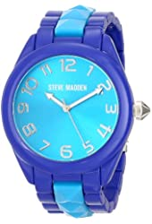 Steve Madden Women's SMW00066-02 Analog Display Quartz Purple Watch