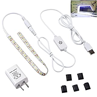 PGONE LED Sewing Machine Lighting Kit,Cold White with Touch dimming and USB Power Supply, Waterproof with Premium 3M Adhesive Tape, Fits All Sewing Machines