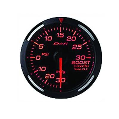 Defi DF11502 Racer PSI Turbo Gauge, Red, 60mm: Automotive