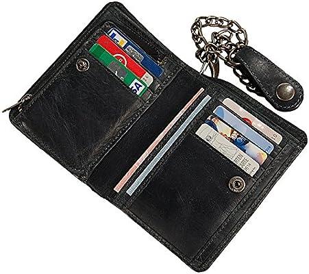 70e7178681d8e Branco Biker Geldbörse Leder Geldbeutel mit Kette Portemonnaie ...