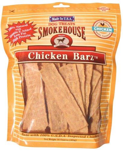 Smokehouse 100-Percent Natural Chicken Barz Dog Treats, 16-Ounce, My Pet Supplies