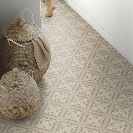 Fabulous Moroccan Tile Effect Sheet Cushion Vinyl Flooring Lino IP01