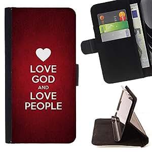 KingStore / Leather Etui en cuir / Sony Xperia Z3 Compact / BIBLIA Dios Amor y el Amor Gente
