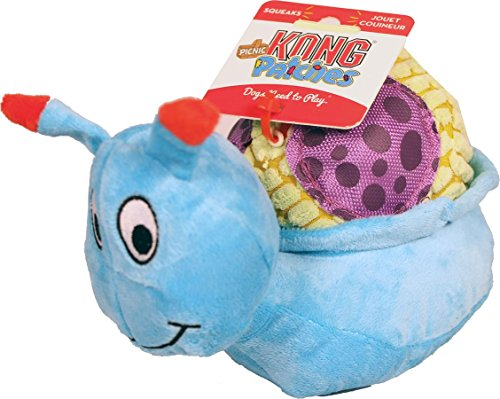 KONG Picnic Patches Snail Toy, Medium/Large