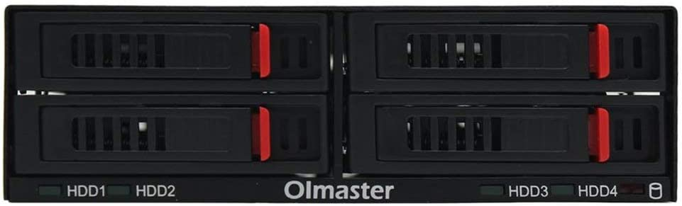 OImaster HE-2006 Four 2.5 Inch Slots SATA Internal Rack Hard Drive Case Internal Mobile Rack with LED Indicator
